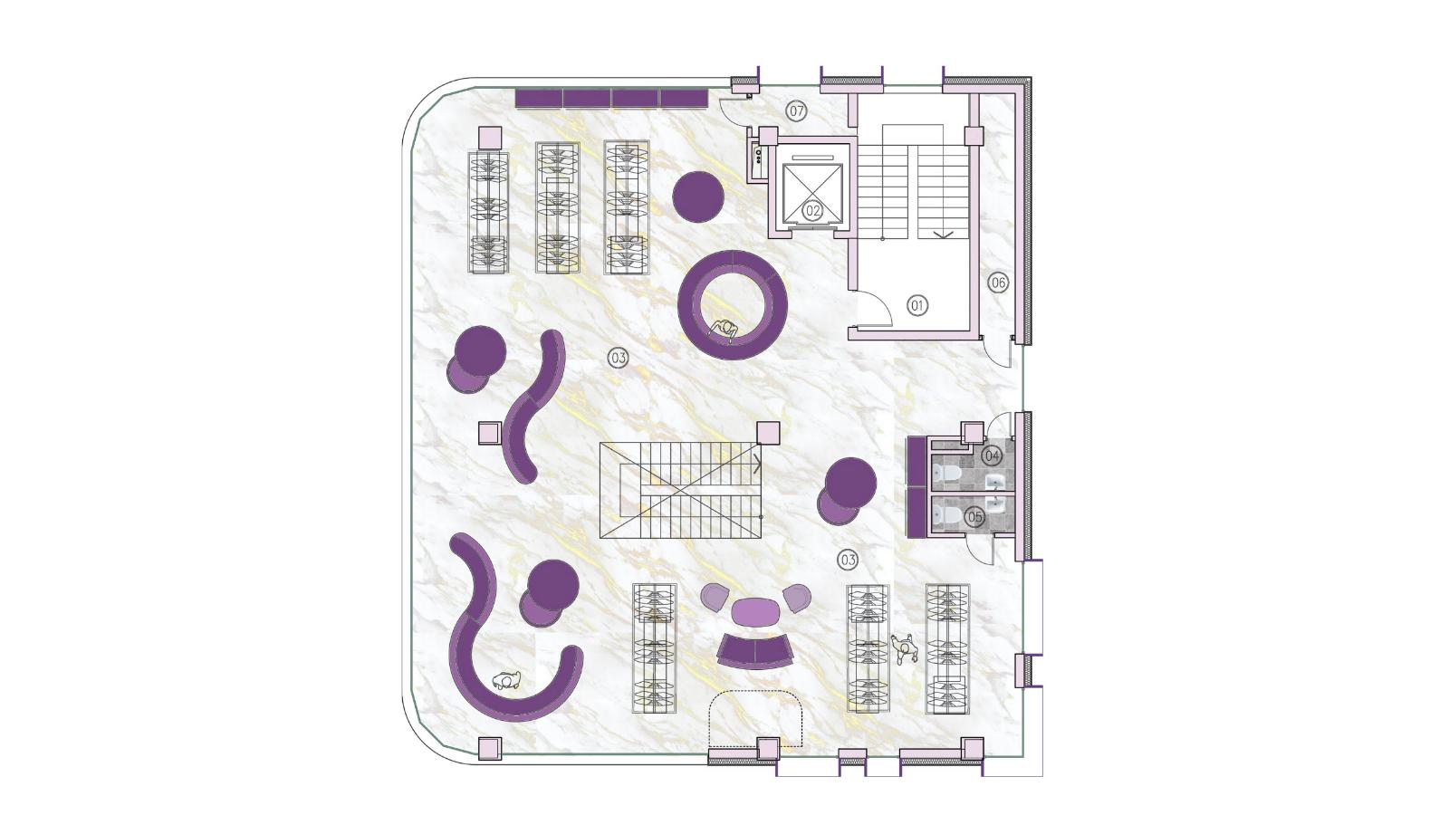 Oasis Galleria - Layout F2